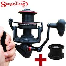 Sougayilang Big Distant Wheel Two Spools 13+1 Ball Bearing Fishing Reel Saltwater/Freshwater Spinning Fishing Reel