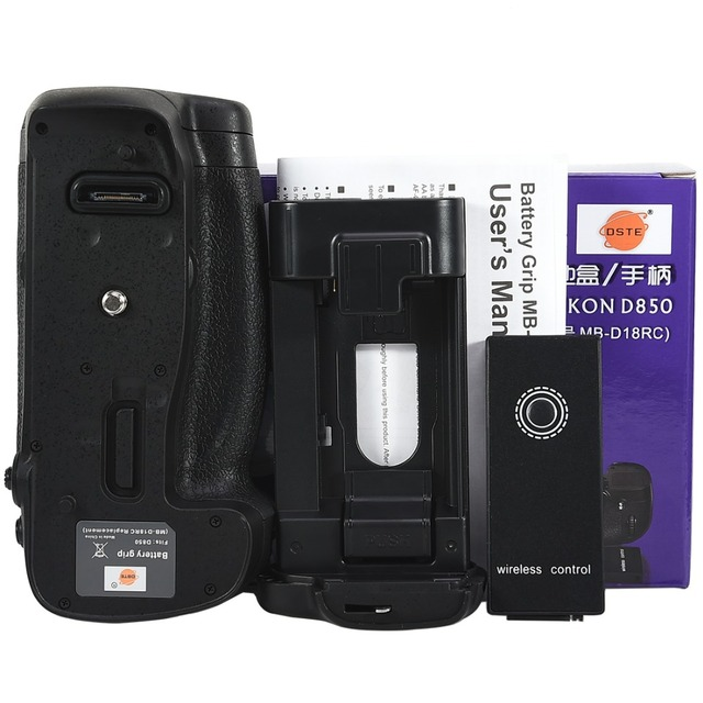 Nikon d850 dslr 카메라 용 dste 원격 제어 수직 배터리 그립 MB D18