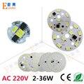 10 unid ac 220 v módulos de led pcb no necesita controlador pcb smd5730 ac220v pcb, led placa de la lámpara de aluminio luces de bulbo del led, abajo luz diy