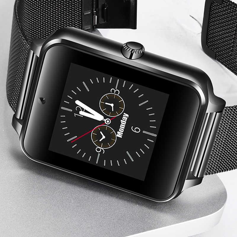 ליגע חכם שעון גברים נשים דיגיטלי אלקטרוני שעון נירוסטה ספורט עמיד למים שעון תמיכה ה-SIM TF עבור אנדרואיד טלפונים