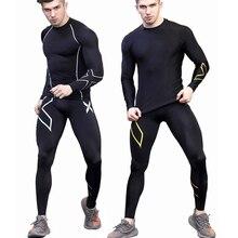 2018 Jogger бренд Сжатия Брюки для девочек мужской спортивный костюм мужские повседневные штаны спортивные Леггинсы Training тренажерный зал Человек Шорты