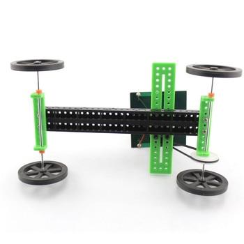 1 Set Mini Solar Powered Toy DIY Car Kit Children Educational Gadget Hobby Funny solar power system toys fingerboard wheels 4