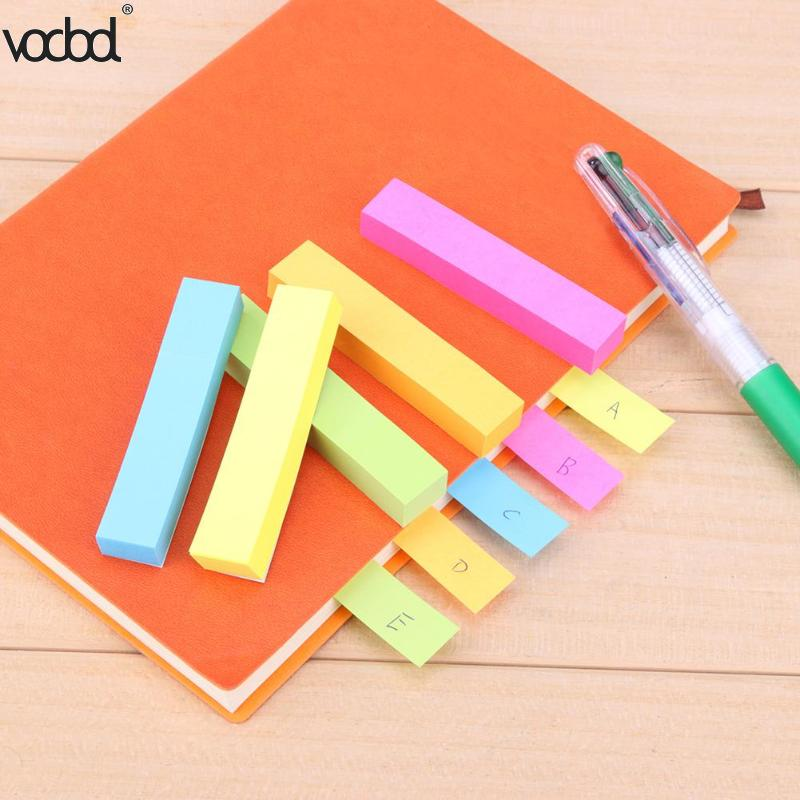 100 Sheet Pages Sticky 5 Colors Notes Bookmark Post Memo Pad Category Index Label Stickers Flags Tag Office Papelaria