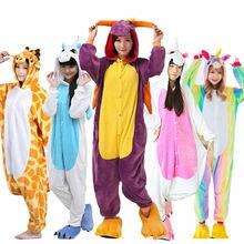 AIMINYZ Wholesale Autumn Winter Unicorn Pegasus Stitch Panda Animal Flannel  Pajamas Sets Cartoon Sleepwear For Adult Women Men-in Pajama Sets from  Underwear ... 56a9ad14e