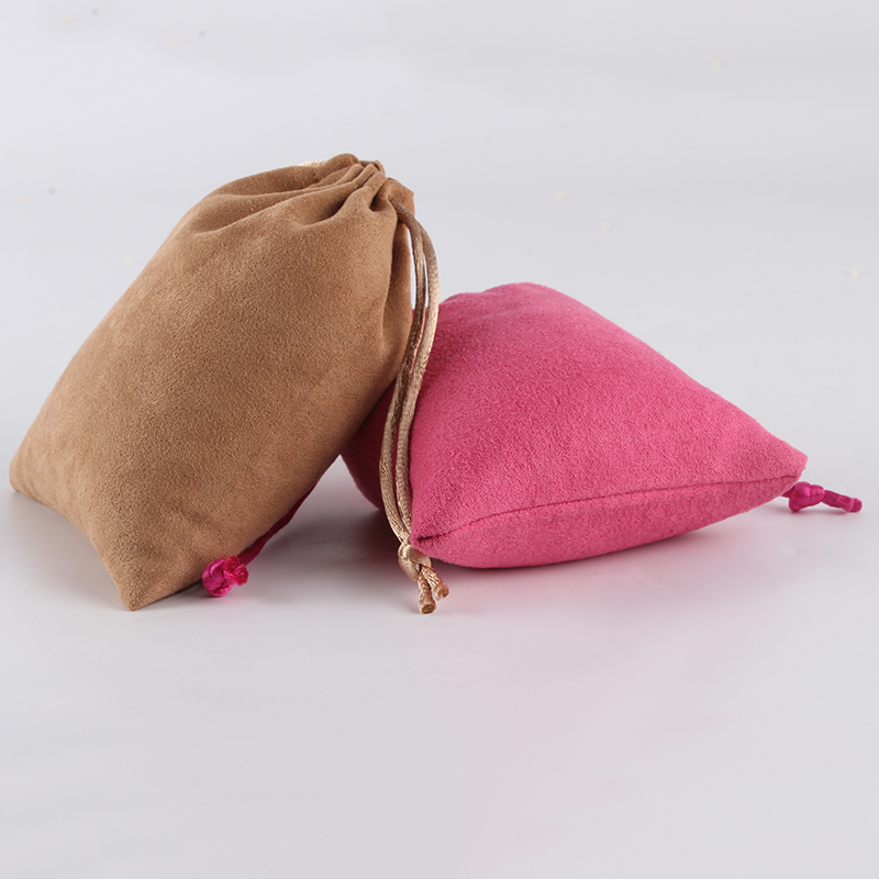 100pcs/lot 10*12cm Custom Logo Printed Suede Drawstring Bag Pouch Wholesale Price Packing Jewelry Gifts Box Pouch