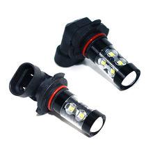 2 шт. 50 Вт H10 автомобиля светодиодный налобный фонарь 9145 9140 9040 9055 9155 9150 PY20D лампы авто светодиодный фонарь лампы 6000 К Авто лампочки