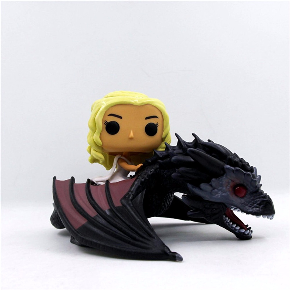 Game Of Thrones DAENERYS Riding DRAGON 12*21cm Action Figure Toy PVC Collections Model Christmas Gift Toys for Kids Adult street fighter v chun li bigboystoys with light action figure game toys pvc action figure collection model toys kids for gift