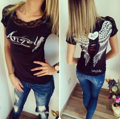 2017 кружева печати модные футболки женщины kawaii camisas футболка femme топ tumblr ропа mujer женщина мило битник clothing футболка