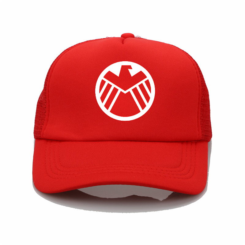 a7cbcef5e4c Fashion Hat Marvel Agents of S.H.I.E.L.D. Shield printing net cap baseball  cap Men women Summer Cap New Youth sun hat-in Baseball Caps from Apparel ...