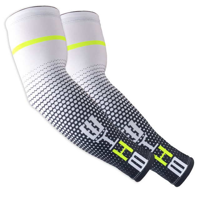 Loogdee 1Pair Cool Men Cycling Running UV Sun Protection Cuff Cover Protective Arm Sleeve Bike Sport Arm Warmers Sleeves 5