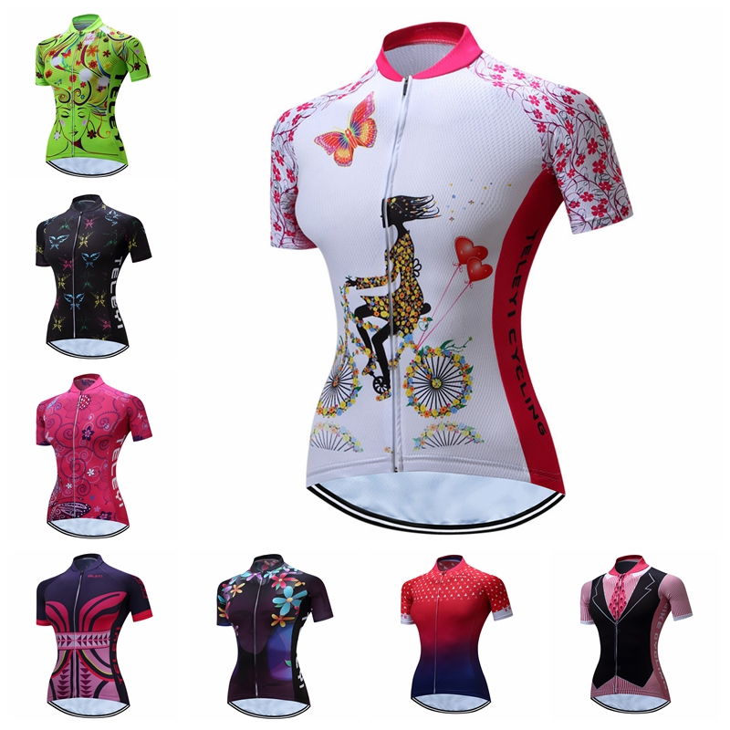 Weimostar Summer Cycling Jersey Women Short Sleeve Quick Dry Bike mtb Jersey Ciclismo Breathable Cycling Shirt Bicycle Jersey