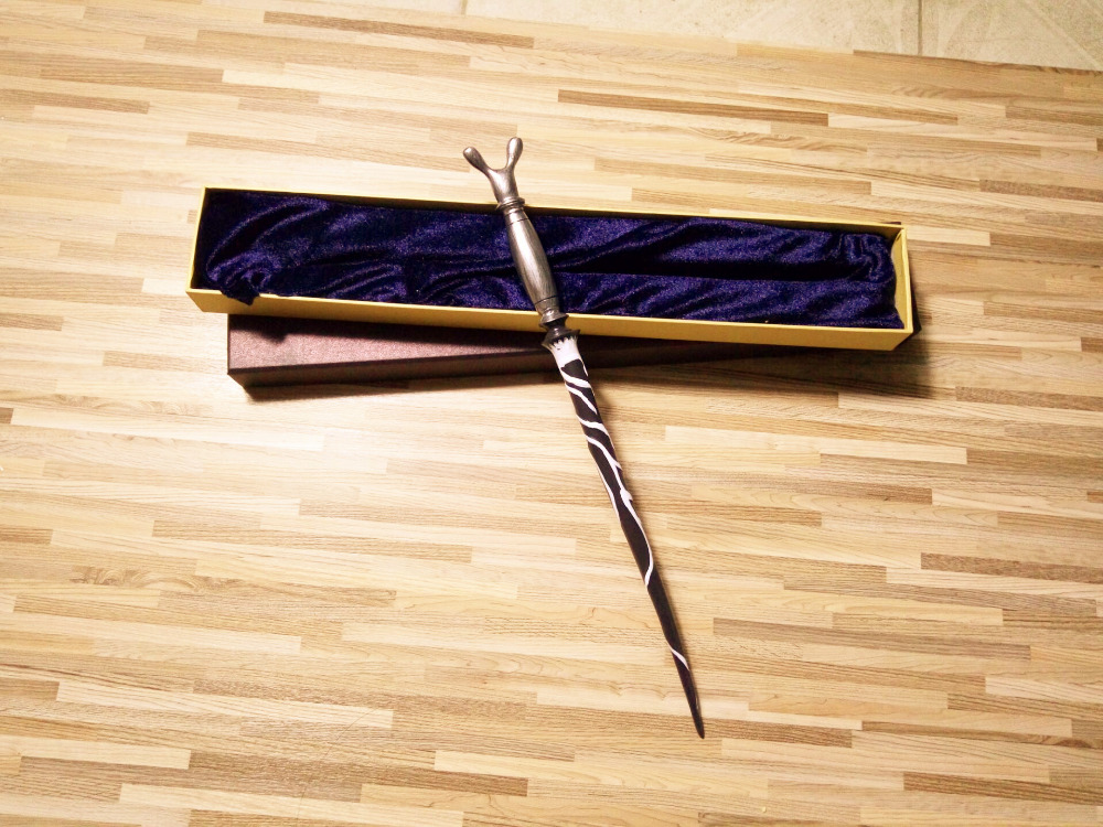New Quality Deluxe COS Harry Horace Slughorn Magic Wand Of Harry  Magical Stick With Gift Box Packing