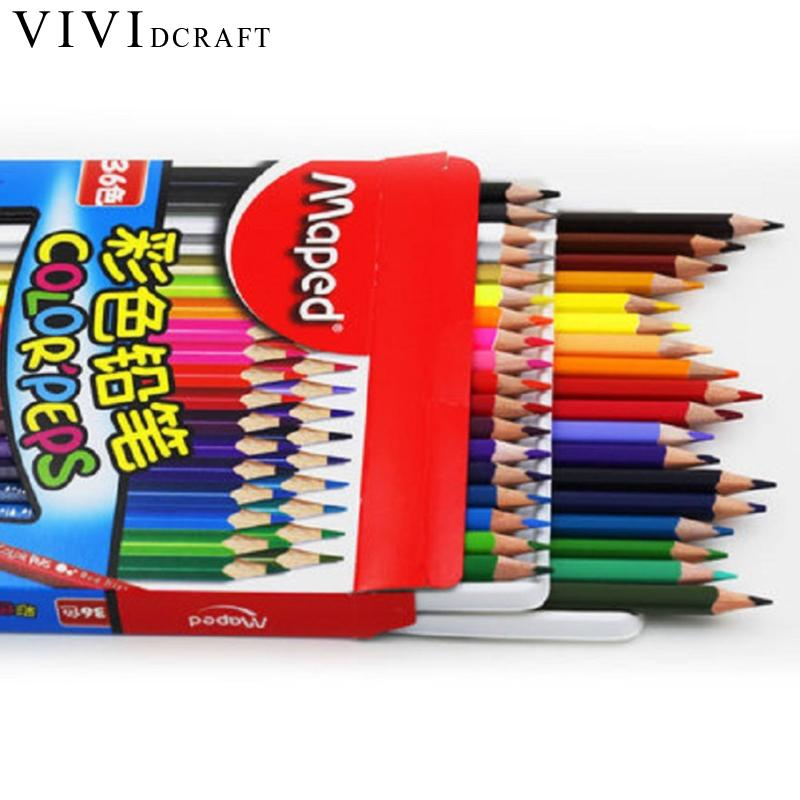 12/18/24/36/48 Colors DIY Colored Pencils for Sketch Painting Colour Pencil Children's School Gift Cute Drawing Pencil For Kids deli wooden colored pencils set soluble pencil for kids drawing pencils sketch artists painting supplies 12 18 24 36 colors box
