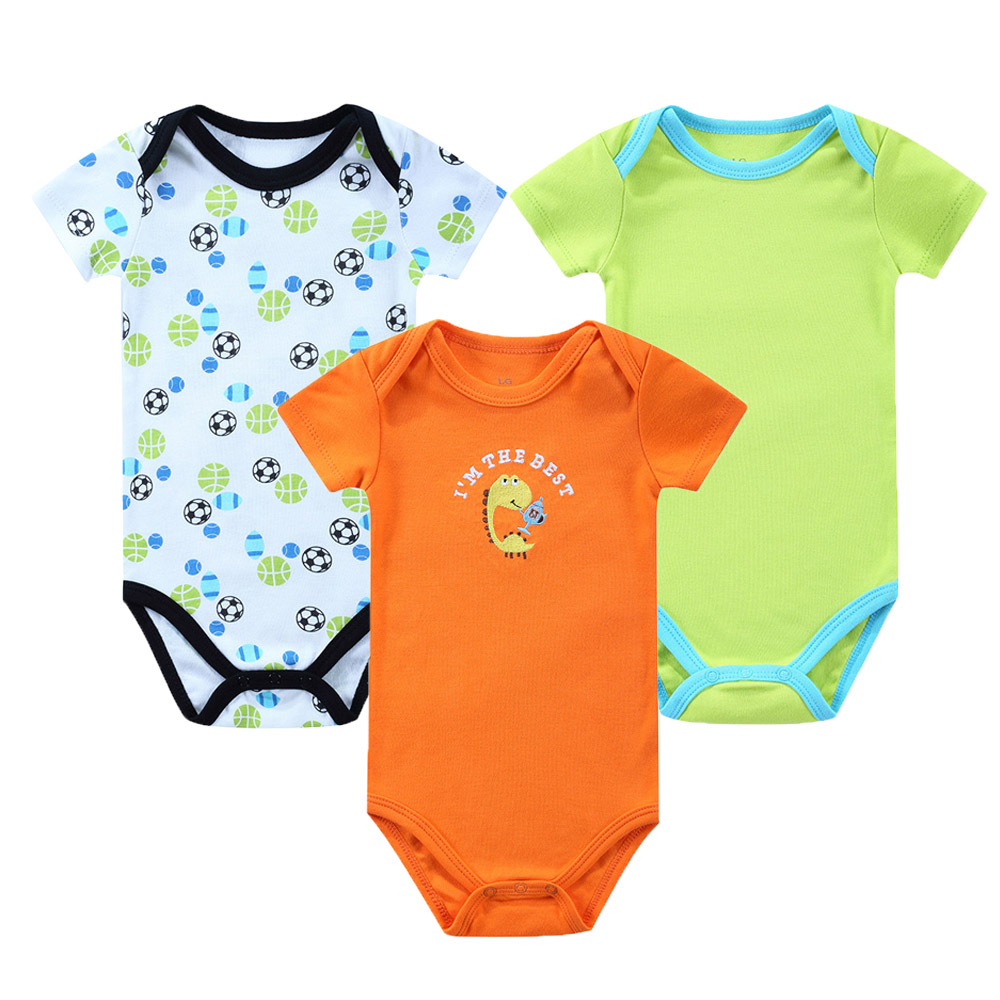3pcs/lot Baby Rompers Short Sleeve Soft Cotton Baby Boy Girl Clothes Baby Wear Jumpsuits Clothing Set Body Toddler Jumpsuits baby rompers long sleeve baby boy girl clothing jumpsuits children autumn clothing set newborn baby clothes cotton baby rompers
