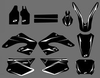0179 Power NEW STYLE Full Black TEAM DECALS STICKERS GraphicS For CR125 CR250 2000 2001