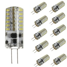 цена на 10X HRSOD G4 3W 220LM 48 LED Bulb 3014 SMD Corn Light Lamp  Pure White Home Lighting,Commercial Lighting,  DC12V