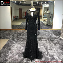 2016 New Embroidery Mermaid Evening Dress See Through Top Evening Gowns Sexy Party Dress Formal Dresses Plus Size Summer Style