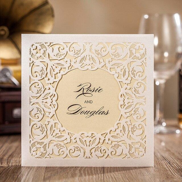 Aliexpresscom Kup Laserowo Wycinane Zaproszenia ślubne Kartki