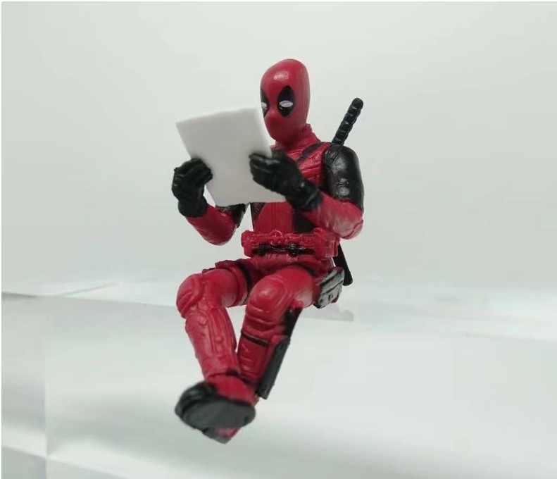 Deadpool Action Figure Modelo Postura Sentada Anime X-Men Mini Decoração Boneca Pvc Coleção Estatueta Brinquedos Carro Secretária 7 cm 2 Estilos