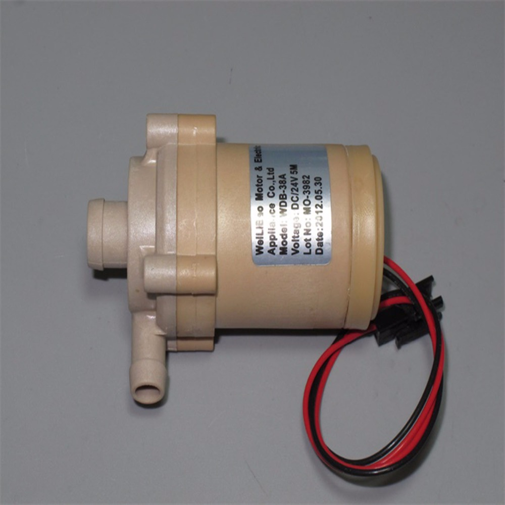 WDB-38A 12-24V large flow brushless water pump full sealed centrifugal pump shower bath heat pump circulating pump dc24v brushless water pump mute large flow high efficiency for medical care coffee machine ordinary aquarium water cycle diy