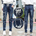 New Spring Winter Boyfriend Jeans Women Harem Pants Casual Trousers Elastic Waist Fashion Denim Pants Women Jeans Female