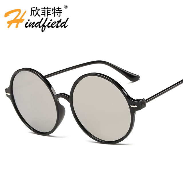 0a6c8336de Hindfield Brand Designer Women Round Sunglasses Men Sun Glasses Unisex Dark  Glasses Shades gafas de sol oculos de sol