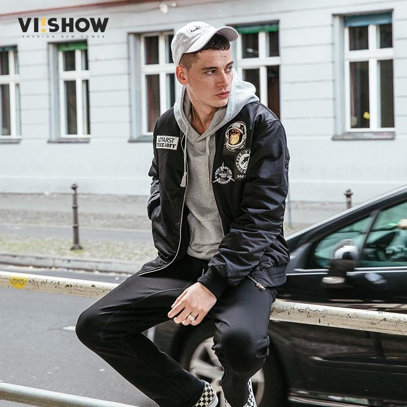 VIISHOW Winter Men Jacket 2017 Brand Casual Mens Jackets And Coats Black Parka Men Outwear Animal Jacket Male Clothing MC2115174