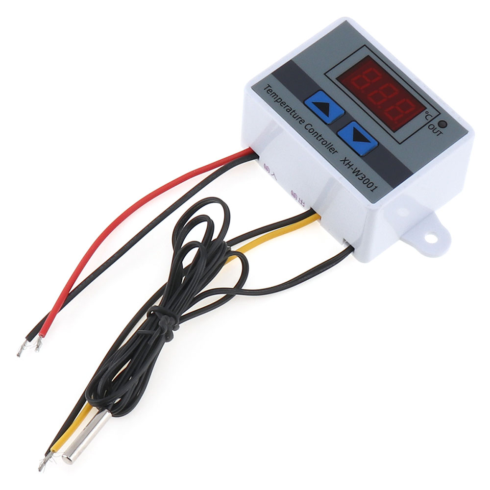 XH-W3301 220V 1500W Digital LEVOU Interruptor do Controlador de Temperatura com Led indicador & Sonda À Prova D' Água para-50 ~ 110 Graus Celsius