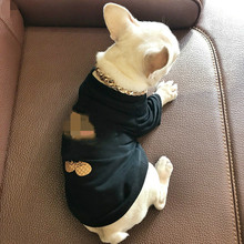 Весенняя и летняя одежда для домашних животных с принтом Золотая мышка рубашка Чихуахуа футболка Французский бульдог с короткими рукавами свитер для шнауцера XXL