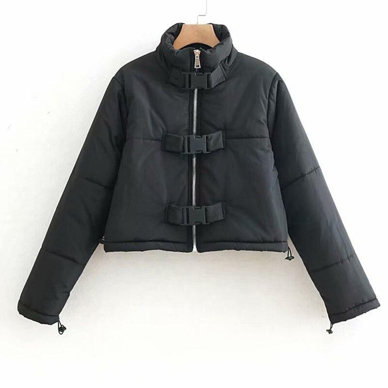 Épais Noir Femmes Carré Casual Pour Chaud Boucle Streetwear De Hiver Parka Survêtement Élégant 2019 D'hiver Vestes fTwwx
