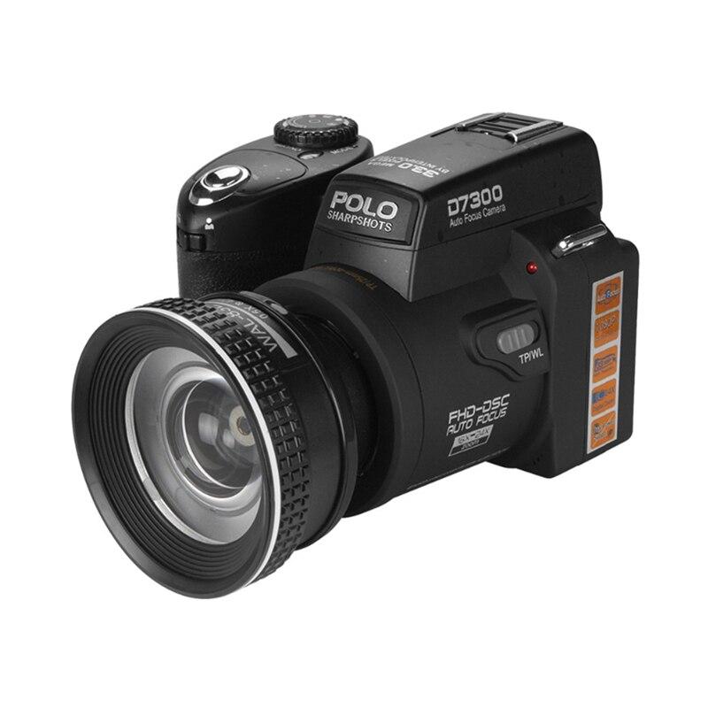 POLOSHARPSHOTS D7300 digital cameras 33MP Professional DSLR cameras 24X Optical Zoom Telephotos& 8X Wide Angle Lens LED Spotligh