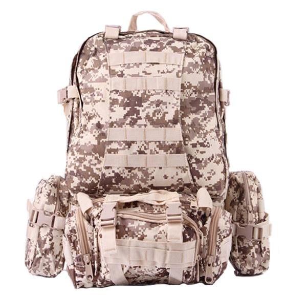 Hombres de Gran Capacidad mochila Militar Supervivencia mochila Bolsas de Viaje mochila de Camuflaje militar Molle Bolsa De Error del Sistema de Ahorro