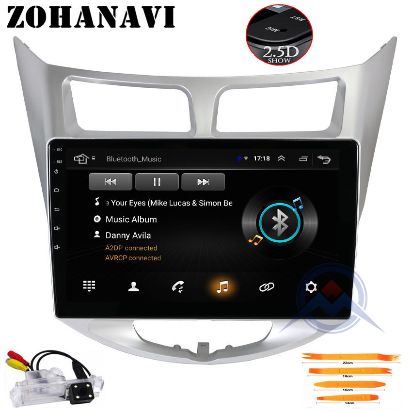 ZOHANAVI 10 2 inch Android Car GPS DVD Player for Hyundai Solaris Verna accent car radio