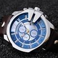 Montre Homme 2016 Popular Marca de Lujo Superior Azul Relojes de Cuarzo Relojes de Oro Hombres Del Reloj de Los Hombres de CURREN del Reloj Masculino 8176