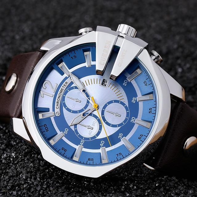 93f401ffed5 Montre Homme 2016 Top de Luxo da Marca Popular Azul Relógios de Quartzo  Relógios Homens Relógio