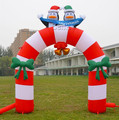 X156 Christmas Decorations 12' Airblown Inflatable Arch Stand With penguin Yard Art Decor