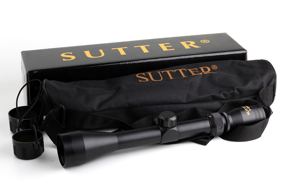 Tactical Crossbow Air Gun Optical Sight Gold Edition RifleScope SUTTER 3 12X40 Mil Dot Reticle Hunting