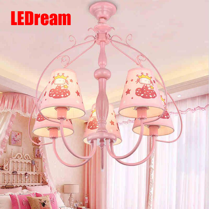 Pink cartoon eye of children room droplight creative study LED the princess girl bedroom lamps and lanterns 2015 new brand 5m roll victorian country style for floral flowers background wallpaper