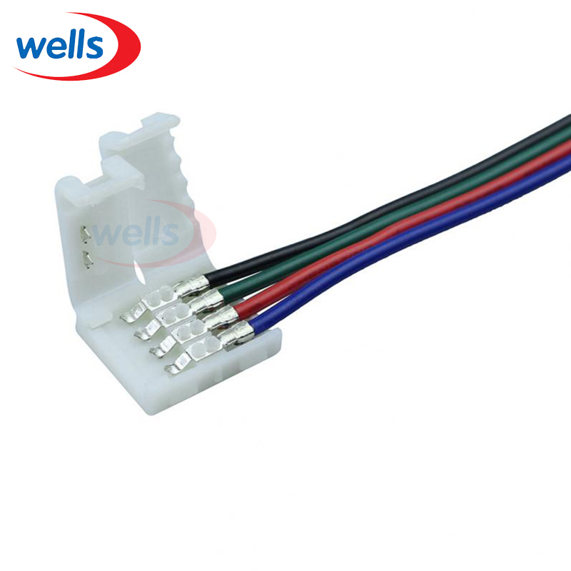100pcst 4pin RGB connector for RGB color strip 5050 LED connector wire  for 5050 RGB strip стоимость