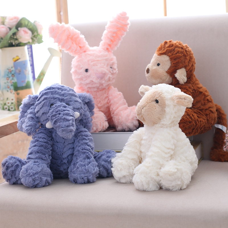 plush rabbit toys unicorn/cat/monkey/sheep/elephant plush doll stuffed animal soft kids tioys baby appease doll children's gift amysh hot 4 colors 65cm long arm monkey from arm to tail plush toys colorful toy soft monkey curtains monkey stuffed animal doll