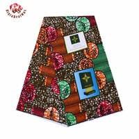 New African Wax Print Fabric new Bintarealwax Fabric Green Pattern Wax Print Fabric Ankara African Batik Fabric 24fs1069