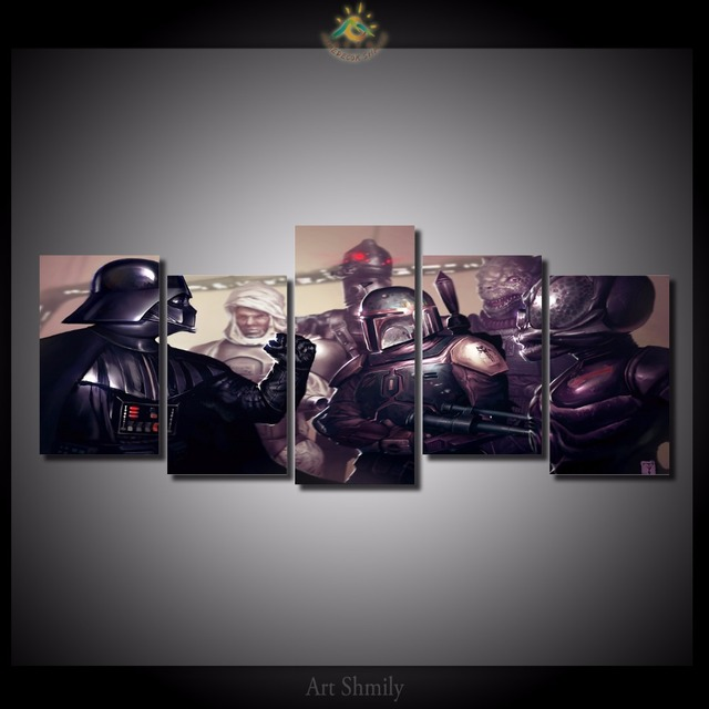 5 Pieces/set Star Wars Print on Canvas