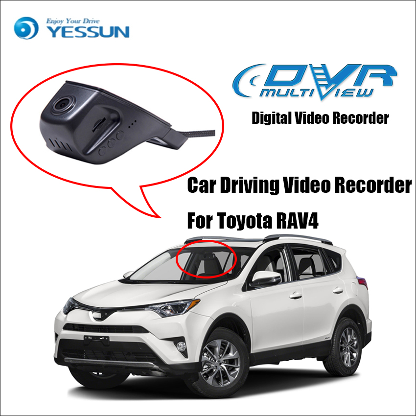 YESSUN For Toyota RAV4 Car Front Dash Camera CAM /DVR Driving Video Recorder - For iPhone Android APP Control Black Box Function yessun for iphone android app car front dash camera cam for jeep wrangle dvr driving video recorder control black box functi