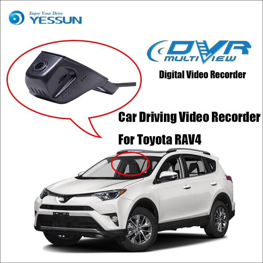 YESSUN pour Toyota RAV4 caméra de bord avant de voiture CAM/DVR enregistreur vidéo de conduite-pour iPhone Android fonction de contrôle d'application