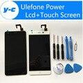 Poder LCD Display + Touch Screen Ulefone 100% Nuevo Panel Reemplazo Para Ulefone Poder 1920X1080 FHD 5.5 pulgadas envío Gratis