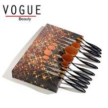 Toothbrush Makeup brushes Oval makeup Brush Set Professional Blending Contour Blush Foundation Highlight Powder face make up set