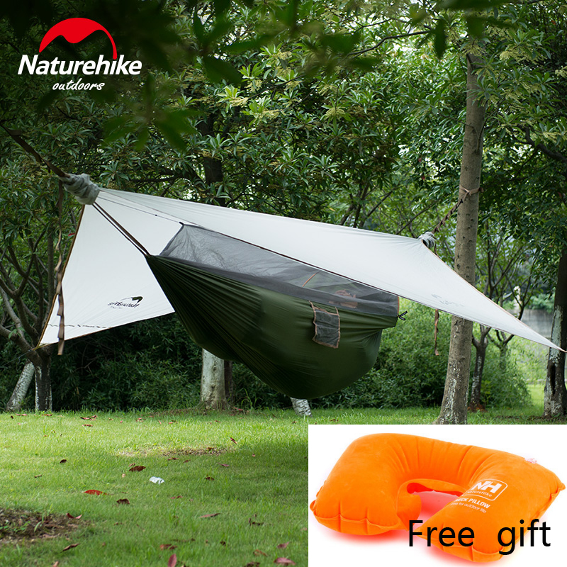 Naturehike 1 Person 2 Color Covered Hammock Hanging font b Tent b font Camping Gear Backpacking