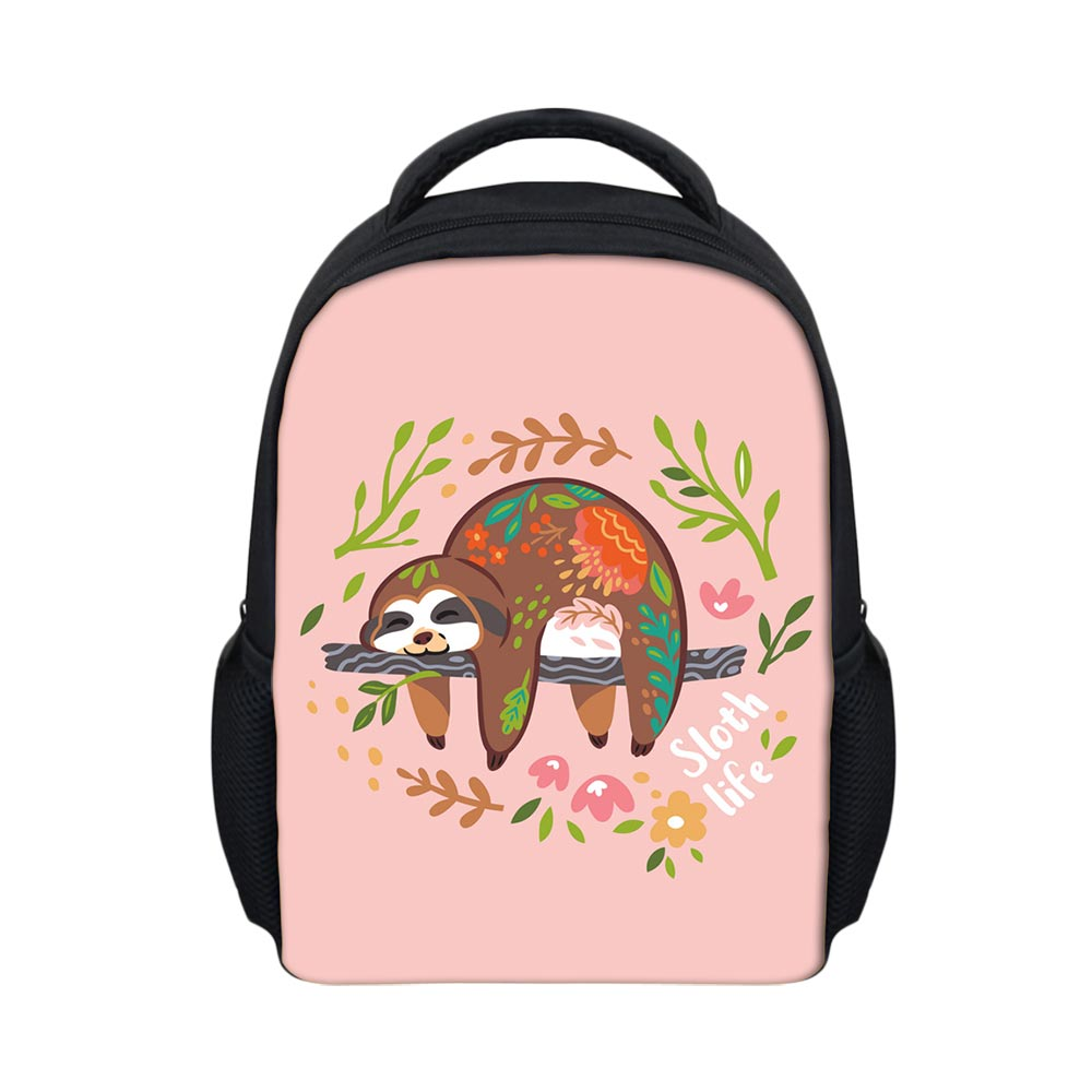 NOISYDESIGNS Mini Backpack Sloth Bear Animal Printing School Bags For Girls High Quality Bagpack Baby Custom Creative Mochila