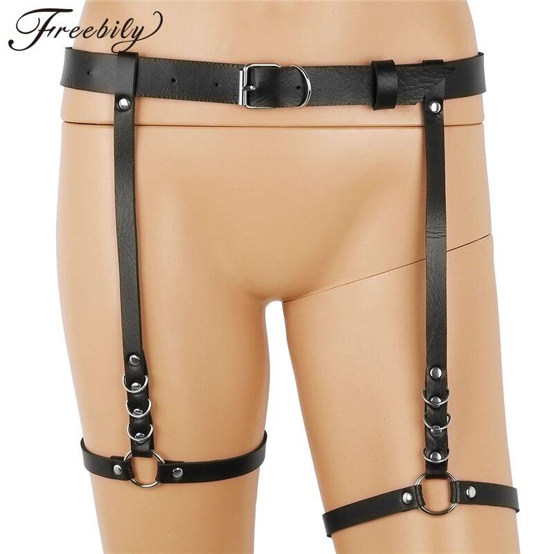 72143cfe2de Harajuku Lingerie Sexy Hot Erotic Harness Belts Bondage Lingerie Suspender  Belt Gothic Punk Style Pu Leather Harness Leg Garters