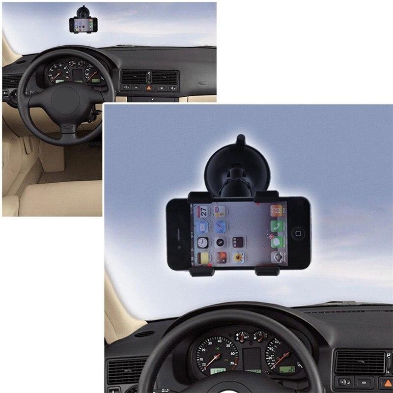 Универсальный лобовое стекло автомобиля двойной зажим телефон Держатель рабочего присоске Подставка для iphone Samsung Galaxy HTC мобильного телефон…